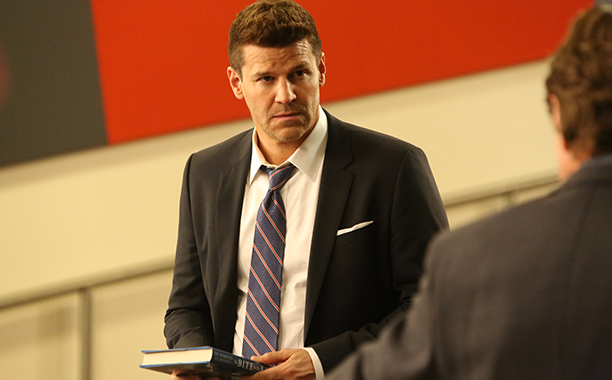 "ALL CROPS: BONES - Season 11 BONES: David Boreanaz in the ""The Stiff In The Cliff"" episode of BONES"