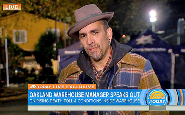ALL CROPS: Derick Almena On Oakland Fire That Killed 36: 'I'm Not Going To Answer These Questions' | TODAY screengrab