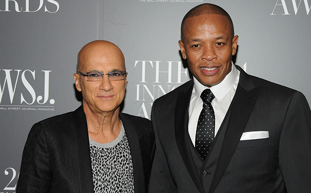ALL CROPS: 458495086 Honorees Jimmy Iovine (L) and Dr. Dre attend WSJ. Magazine 2014 Innovator Awards at Museum of Modern Art on November 5, 2014 in New York City. (Photo by Desiree Navarro/WireImage)