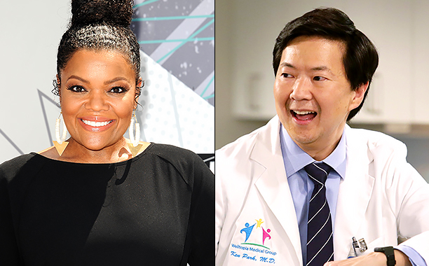 ALL CROPS: 543240786 Yvette Nicole Brown (Photo by Jason LaVeris/FilmMagic); DR. KEN Episode: The Seminar Season 1, Ep 2 October 9, 2015 KEN JEONG CR: Nicole Wilder/ABC