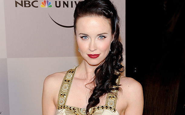 ALL CROPS: 108088398 Actress Elyse Levesque arrives at NBC Universal's 68th Annual Golden Globes After Party at The Beverly Hilton Hotel on January 16, 2011 in Beverly Hills, California. (Photo by Michael Kovac/FilmMagic)