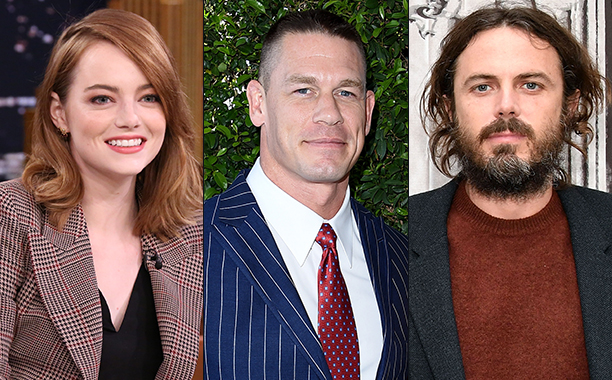 ALL CROPS: 627062494, 584900210, 624303186 - Emma Stone, John Cena and Casey Affleck split