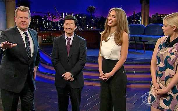 ALL CROPS: Flinch w/ Jessica Alba, Kate Mara & Ken Jeong The Late Late Show with James Corden The Late Late Show with James Corden