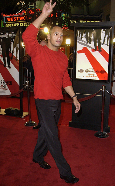"""GALLERY: 'Ocean's Eleven' Premiere: GettyImages-104922491.jpg Dwayne """"The Rock"""" Jonhson during World Premiere of """"Ocean's Eleven"""" at Mann's Village Theatre in Westwood, California, United States."""