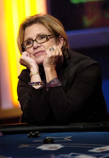 Carrie Fisher Playing Celebrity Blackjack on September 18, 2004