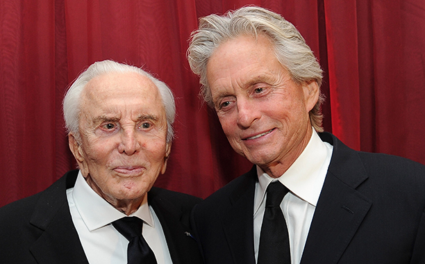 GALLERY: Kirk Douglas Through the Years: GettyImages-129202086.jpg Kirk Douglas (L) and actor Michael Douglas attend SBIFF's 2011 Kirk Douglas Award for Excellence In Film honoring Michael Douglas at the Biltmore Four Seasons on October 13, 2011 in Santa