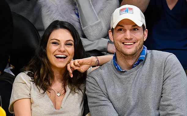 ALL CROPS: 460706256 Mila Kunis (L) and Ashton Kutcher (Photo by Noel Vasquez/GC Images)