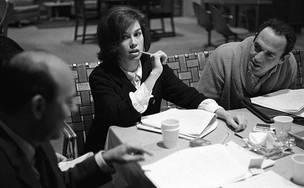 Mary Tyler Moore at a Table Read for The Dick Van Dyke Show on December 2, 1963