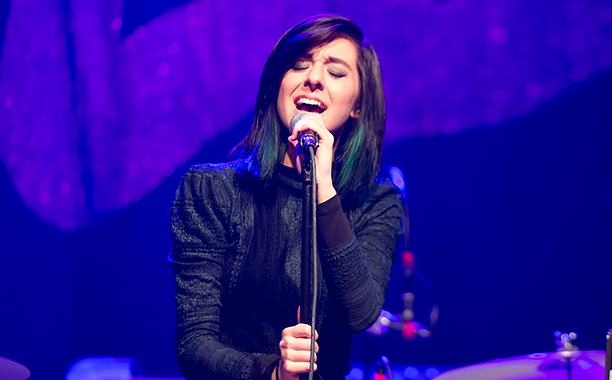 ALL CROPS: 513462400 Singer Christina Grimmie performs on stage at Center Stage on March 2, 2016 in Atlanta, Georgia. (Photo by Marcus Ingram/Getty Images)