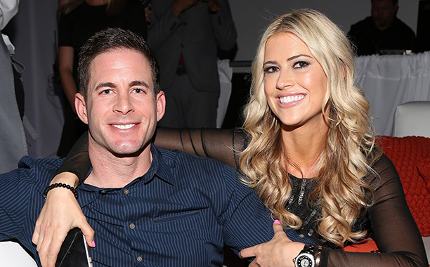 """All Crops: 515362042 Collection: Getty Images Entertainment MIAMI BEACH, FL - MARCH 12: Christina & Tarek El Moussa of HGTV's """"Flip or Flop,"""" new North American brand attend the TREND Group and Granite Transformations global rebranding and """"Immense"""" produ"""