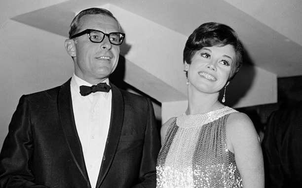 Mary Tyler Moore with her Husband Grant Tinker in 1966