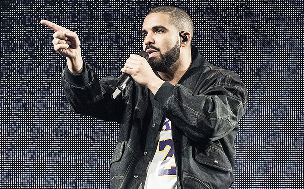All Crops: 610823938 Collection: Getty Images Entertainment INGLEWOOD, CA - SEPTEMBER 27: Drake performs at The Forum on September 27, 2016 in Inglewood, California. (Photo by Harmony Gerber/Getty Images)