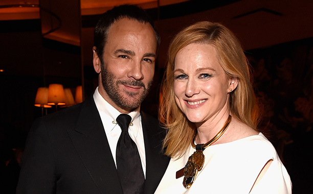 All Crops: 624043430 Collection: Getty Images Entertainment NEW YORK, NY - NOVEMBER 17: Tom Ford and Laura Linney attend the New York Premiere of Tom Ford's 'Nocturnal Animals' at Monkey Bar on November 17, 2016 in New York City. (Photo by Kevin Mazur/Get