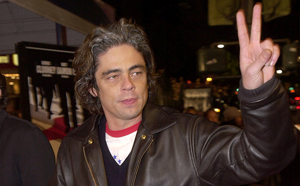 GALLERY: 'Ocean's Eleven' Premiere: GettyImages-675539.jpg Benicio Del Toro attends the premiere of the film 'Ocean's Eleven' December 5, 2001 in Los Angeles, CA. (Photo by Vince Bucci/Getty Images)