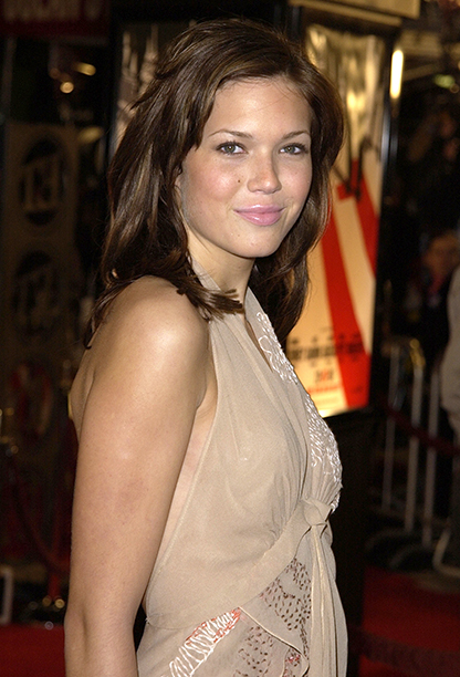 """GALLERY: 'Ocean's Eleven' Premiere: GettyImages-82029781.jpg Mandy Moore at the premiere of """"Ocean's Eleven"""" at the Village Theater in Los Angeles, Ca. Wednesday, December 5, 2001"""