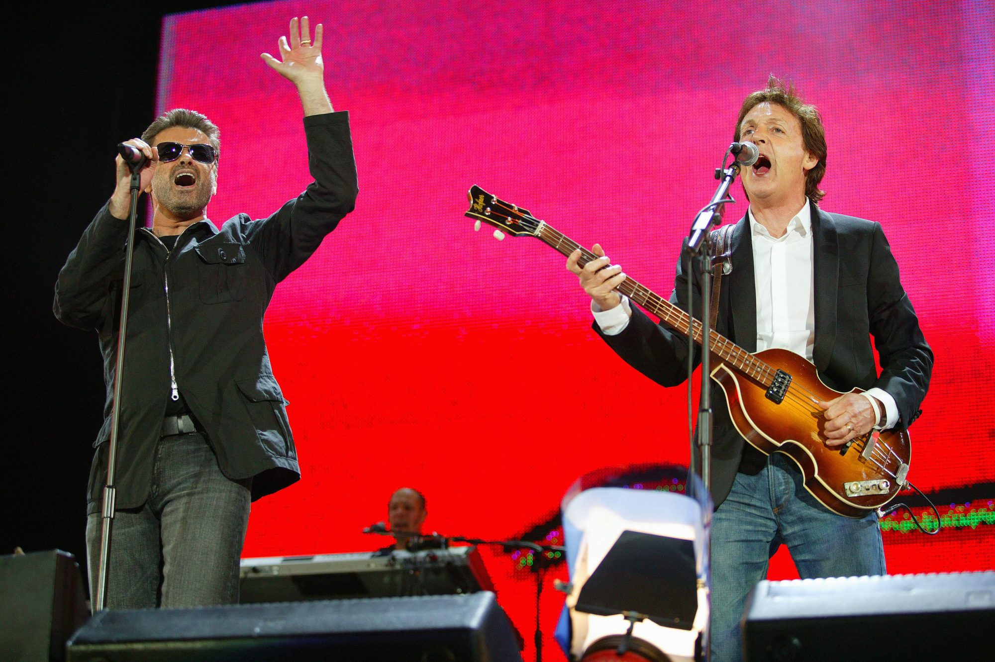 Photo of LIVE 8 and George MICHAEL and Paul McCARTNEY