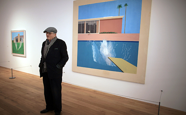 GALLERY: La La Land influences: GettyImages-93495969.jpg David Hockney views some of his work during a tour of the new Nottingham Contemporary art space which is holding a major retrospective of his work on November 30, 2009 in Nottingham, England