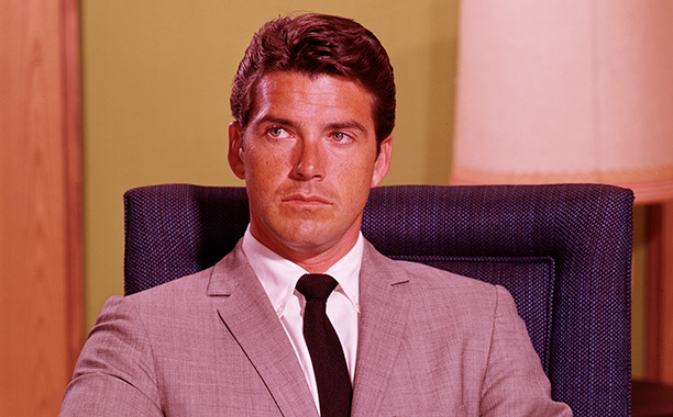 All Crops: 93747113 Collection: Disney ABC Television Group UNITED STATES - SEPTEMBER 09: THE GREEN HORNET - Season One - 9/9/66, Britt Reid (played by Van Williams, pictured) was a millionaire newspaper publisher, who moonlights as the crime-fighting mas