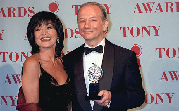 Chita Rivera with winner Jonathan Tunick, Best Orchestration