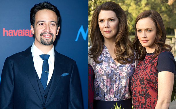 ALL CROPS: 623332210 Lin-Manuel Miranda (Photo credit should read LILLY LAWRENCE/AFP/Getty Images); Gilmore Girls: A Year In The Life Season 1 Air Date 11/25/16 Pictured: Lauren Graham, Alexis Bledel CR: Robert Voets/Netflix