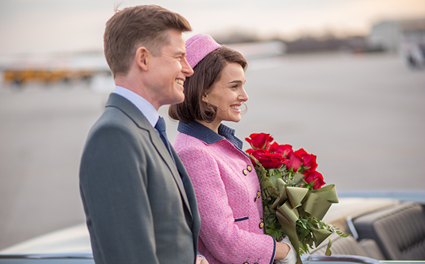 "REVIEW: ALL CROPS: Jackie (2016) Caspar Phillipson as ""John Fitzgerald Kennedy"" and Natalie Portman as ""Jackie Kennedy"""