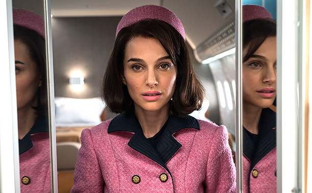 "ALL CROPS: JACKIE (2016) Natalie Portman as ""Jackie Kennedy"" CR: Stephanie Branchu"
