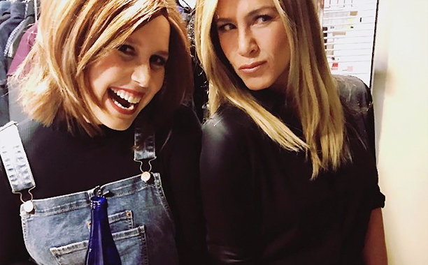 ALL CROPS: Vanessa Bayer and Jennifer Aniston Instagram Photo CR: Vanessa Bayer/Instagram