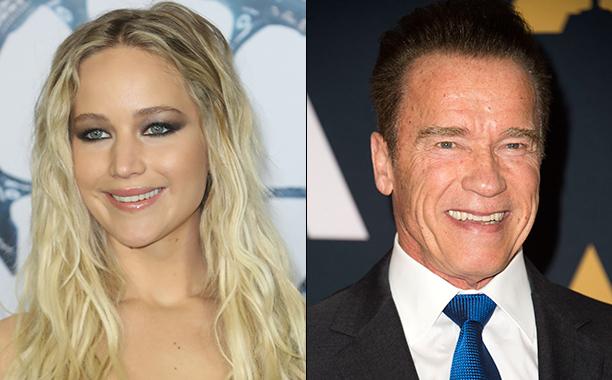 ALL CROPS: Jennifer Lawrence and Arnold Schwarzenegger split