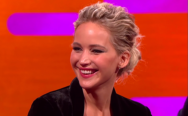 ALL CROPS: Jennifer Lawrence's Butt Nearly Killed Someone - The Graham Norton Show (screen grab)