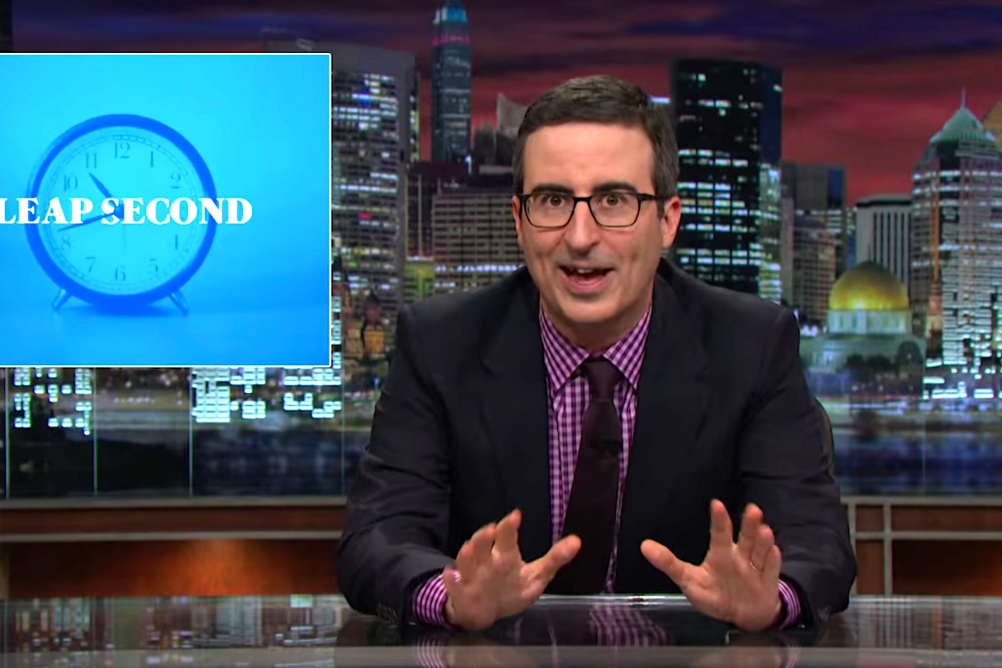 Leap Second: Last Week Tonight with John Oliver (HBO) (screen grab) CR: HBO