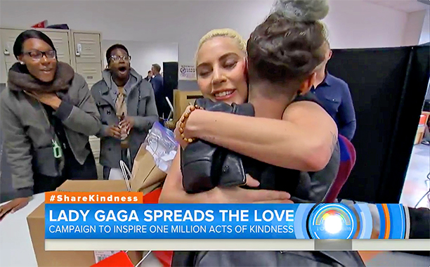 ALL CROPS: Lady Gaga reveals how kindness has helped her heal while visiting LGBT teens screengrab