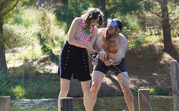 "ALL CROPS: WTW - THE LAST MAN ON EARTH: L-R: Kristen Schaal and Will Forte in the ""If You're Happy and You Know It"" fall finale episode of THE LAST MAN ON EARTH airing Sunday, Dec. 11(9:30-10:00 PM ET/PT) on FOX. ©2016 Fox Broadcasting Co. Cr: Kevin Estra"