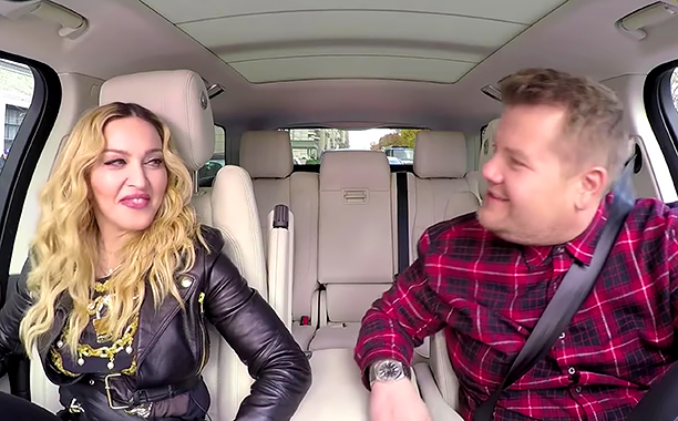 ALL CROPS: Madonna Carpool Karaoke: Coming Wednesday The Late Late Show with James Corden (screen grab) CR: CBS