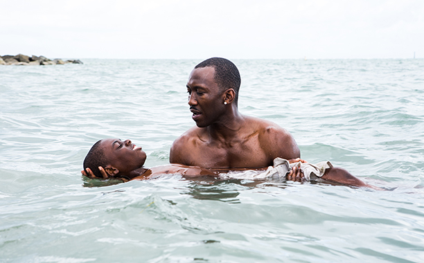 ALL CROPS: Moonlight (2016) Alex R. Hibbert (L) and Mahershala Ali