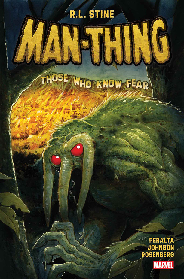 All Crops: RL Stine 'Man-Thing' comic Marvel Cover
