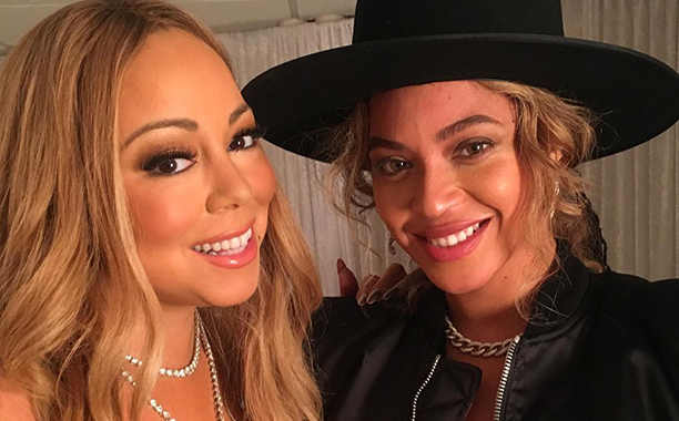 ALL CROPS: mariahcarey I love you @beyonce thank you sooooo much for coming out tonight!