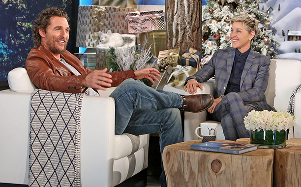 """ALL CROPS: Matthew McConaughey, star of the animated film, """"Sing,"""" makes an appearance on """"The Ellen DeGeneres Show"""" on Wednesday, December 14th"""