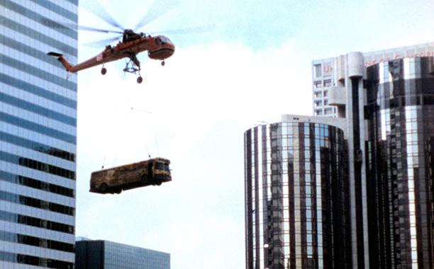 GALLERY: La La Land influences: LOS ANGELES PLAYS ITSELF, filming of a scene for SWORDFISH in Los Angeles, 2003