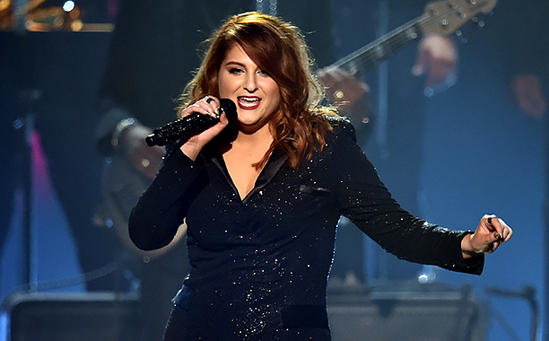 ALL CROPS: 510456574 Meghan Trainor performs onstage during The 58th GRAMMY Awards at Staples Center on February 15, 2016 in Los Angeles, California. (Photo by Kevin Winter/WireImage)