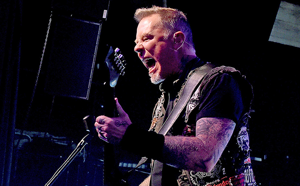 ALL CROPS: 630057792 James Hetfield of Metallica performs at the Fonda Theatre on December 15, 2016 in Los Angeles, California. (Photo by Kevin Winter/Getty Images