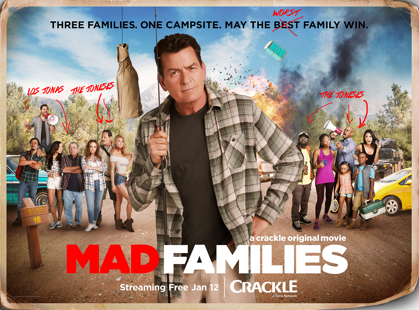 NO CROPS | Movies: 'Mad Families' starring Charlie Sheen, Leah Remini, Finesse Mitchell, Naya Rivera