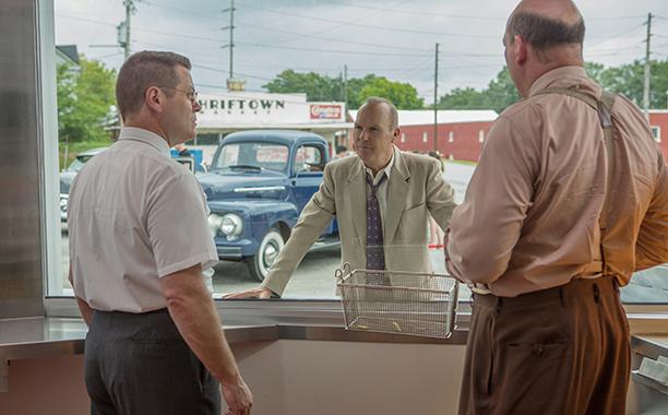 ALL CROPS: THE FOUNDER (2016) (L-R) Nick Offerman, Michael Keaton and John Carroll Lynch