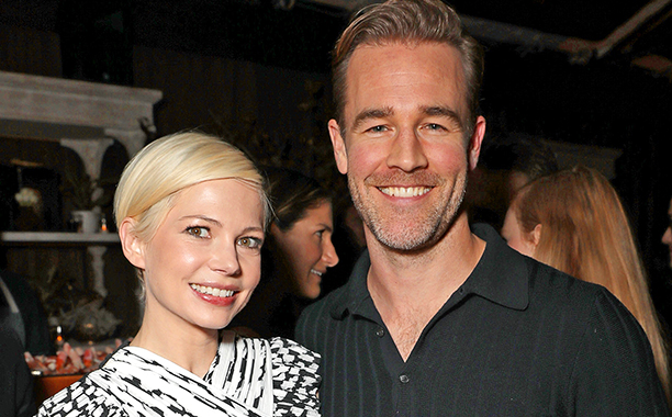 ALL CROPS: 627572846 Michelle Williams and James Van Der Beek attend Jeff Bezos and Matt Damon's 'Manchester By The Sea' Holiday Party on December 3, 2016 in Los Angeles, California