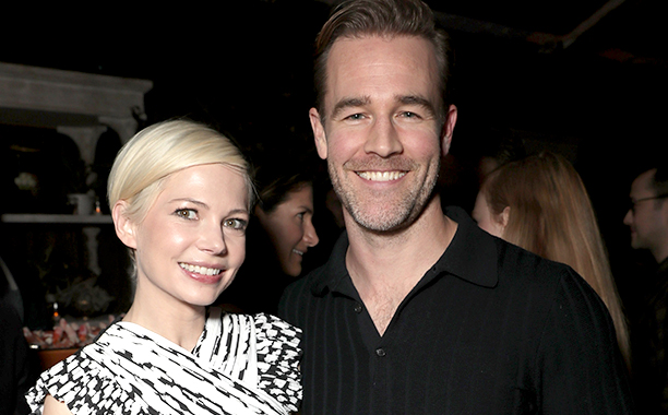 ALL CROPS: 627572846 Michelle Williams and James Van Der Beek attend Jeff Bezos and Matt Damon's 'Manchester By The Sea' Holiday Party on December 3, 2016 in Los Angeles, California. (Photo by Todd Williamson/Getty Images for Amazon Studios)