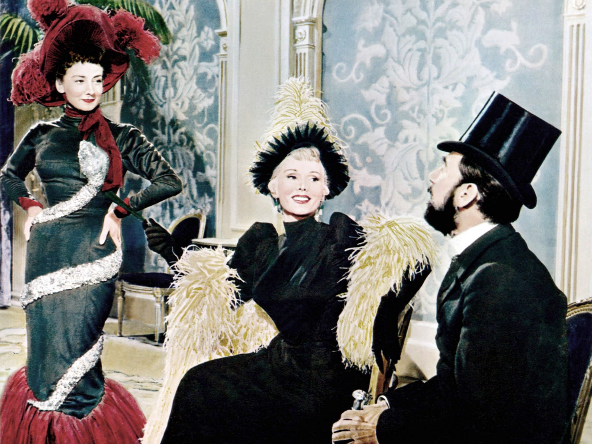 MOULIN ROUGE, from left: Suzanne Flon, Zsa Zsa Gabor, Jose Ferrer, 1952