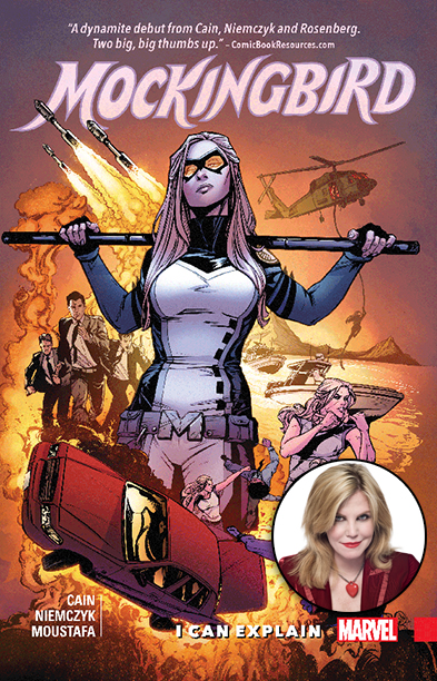 GALLERY: 10 Best Comic Books of 2016: Marvel's Mockingbird with inset of Chelsea Cain