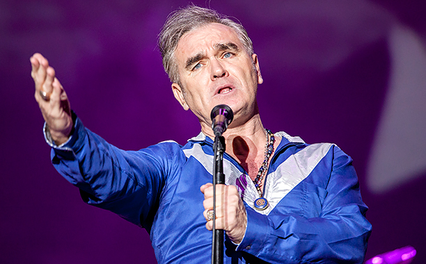 ALL CROPS: 471895448 Morrissey performs on stage on the 1st day of SOS4.8 on May 1, 2015 in Murcia, Spain. (Photo by Xavi Torrent/Redferns via Getty Images)