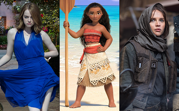 ALL CROPS: La La Land, Moana, Rogue One split
