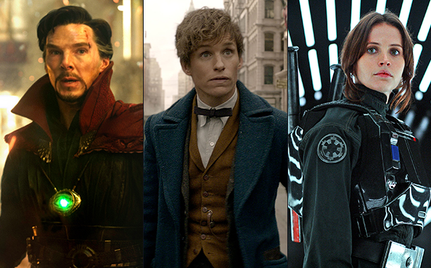ALL CROPS: Doctor Strange, Fantastic Beasts, Rogue One split