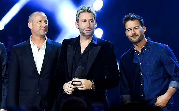 ALL CROPS: 519030950 Nickelback attend the 2016 Juno Awards at Scotiabank Saddledome on April 3, 2016 in Calgary, Canada. (Photo by George Pimentel/Getty Images)